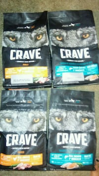 4bags premium dog food (unopened) bags are $18each