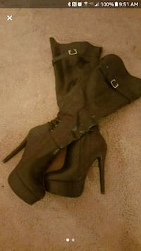 Thigh high leather boots Charleston, 29407