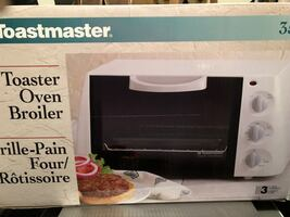 Black and white toaster oven- brand new in box