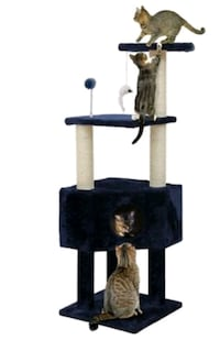 FurHaven Tiger Tough 46.5-in Soft Clubhouse Playground Cat Tree (New)