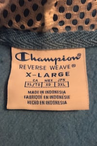 Blue champion reverse weave hoodie Irving, 75061