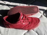 red Vans low-top sneakers 4144 km