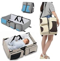 3 in 1 Portable Changing Table, Travel Bassinet & Diaper Bag Mississauga