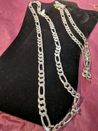 silver chain link necklace and bracelet Lovettsville, 20180