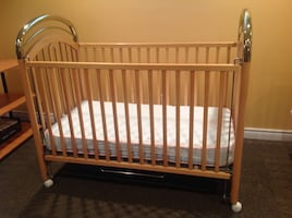 Crib and high chair