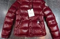 red leather zip-up bubble jacket New York, 11226