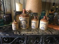 See pricing below-4 amazing vintage mccormick stoneware jugs made specifically for colorado