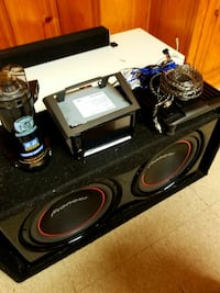 2 pioneer 12's in a ported box, alpine amp and 2.2