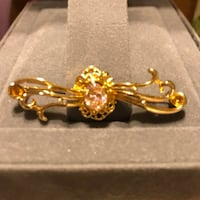 Pretty Gold Brooch/Pin with Pink Stone  Gainesville, 20155