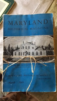 Maryland Historical Magazine  Halethorpe, 21227