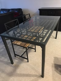 Glass top dinning table with two chairs  Fairfax, 22031