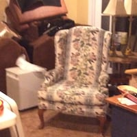 White and gray floral print Arm chair Dartmouth, B2X 3S9