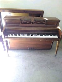brown wooden upright piano with chair Irvine, 92606