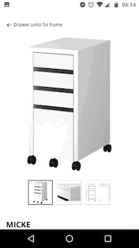 New never used white drawer Chantilly