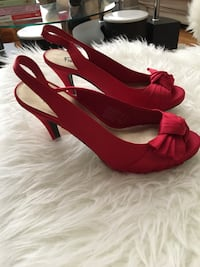 Red open toe High heels size 6