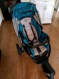 baby's blue and black stroller Sebastian, 32958