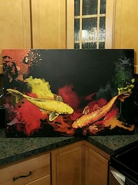 "Graphic koi art 36"" x 24"" Brookhaven, 19015"