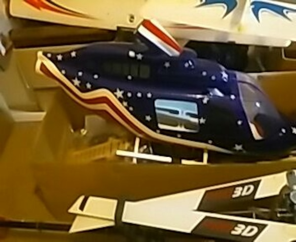 jet Ranger fuselage for 700 size RC helicopter