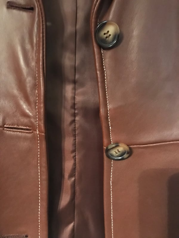 Michael Kors Leather Jacket (New) 2