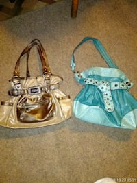 two blue and white leather tote bags West York, 17404