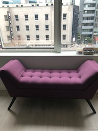Plum Upholstered Bench
