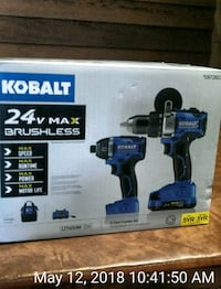 blue and black Kobalt cordless impact wrench box Clinton, 20735