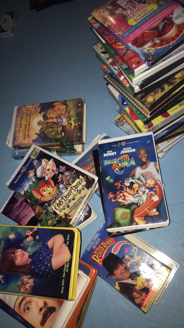 DVDs and VHS movies assorted