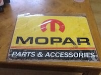 mopar parts & accessories sign new still wrapped
