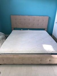 Cal king mattress and bed frame Bakersfield, 93312