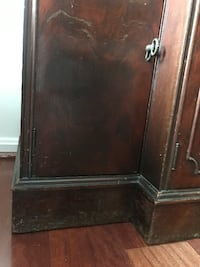 black wooden 2-door cabinet Burke