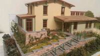 """Miniature Model Home, 20"""" long, detailed hand made"""