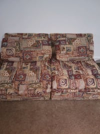 2 piece couch with rolling footstool Total 3 pieces  PICK UP ONLY Trenton, 08609