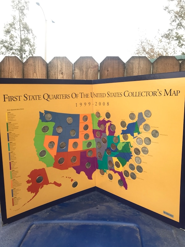 Used State Quarter Map - completed for sale in Camarillo - letgo on