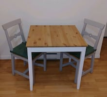 Ikea LERHAMN Table & 2 GAMLEBY Chairs