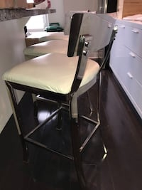 3 barstool perfect shape high end white great for your island seating originally $150 each  Toronto, M8Z