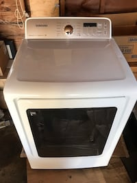 white Samsung front-load clothes washer 328 mi