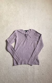 Purple lace up sweater - small Edmonton, T6V 1S7