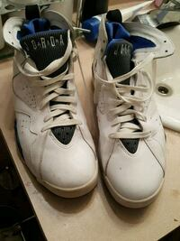 pair of white Air Jordan basketball shoes Tampa, 33612