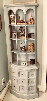 Robin's egg blue petite display curio bookcase book shelf Kensington, 20895