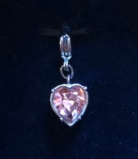 Swarovski Clip On Heart Pendant