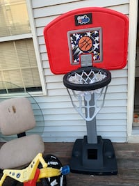 Red and black basketball hoop Manassas