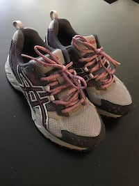 pair of gray-and-black running shoes West Covina, 91790