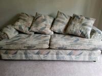 white and blue floral 3-seat sofa Victoria, V8W 3K3