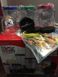 Magic bullet all included except the motor! All brand new cups and book came with it and original box!  London