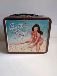 Betty Page metal lunchbox  Elgin