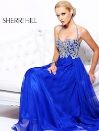 Sherri Hill royal blue dress sz 2