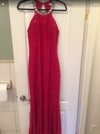 Prom Dress (Red, Large)