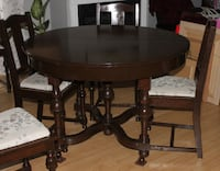 Antique Oak dining-room table, chairs, cabinet-Late 1800's Ottawa