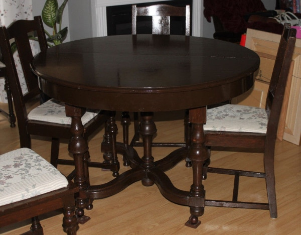 Used Antique Oak Dining Room Table Chairs Cabinet Late 1800s For Sale In Ottawa