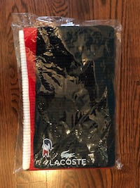 LACOSTE WOOL SCARF NAVY/RED Toronto, M2R 1E7